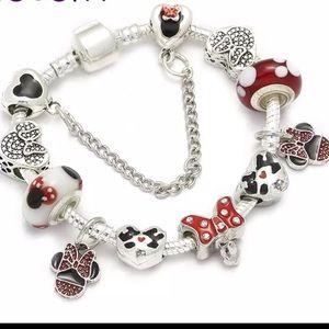 Jewelry - Brand New 18cm Minnie Mouse Bow Charm Bracelet